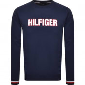 Product Image for Tommy Hilfiger Logo Sweatshirt Navy